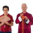 Stock Photo: Senior chinese new year couple