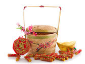 Gong xi fa cai , traditional chinese new year items — Stock Photo