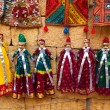 Tourist souvenirs indian puppet dolls  of jaisalmer — Stock Photo