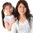 Korean mother and her daughter — Stock Photo #21818861