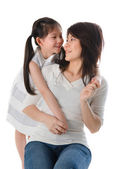 Korean mother and her daughter — Stock Photo