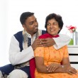 Indian family of mother and son with traditional punjab dress li — Stock Photo #22668435