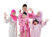 Malay family — Stock Photo
