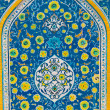 Colorful beautiful Islamic Floral design on wall of a mosque — Stock Photo