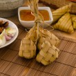 Royalty-Free Stock Photo: Ketupat: South East Asian rice cakes bundle, often prepared for