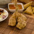 Stock Photo: Ketupat: South East Asirice cakes bundle, often prepared for
