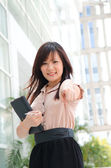Asian chinese female student in formal wear — Stock Photo