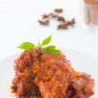 pollo al curry rendang, cocina India con alimento tradicional — Foto de Stock