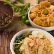 Prawn noodles also known as har mee, famous food in Malaysia — Stock Photo #26599501