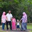 Stock Photo: Malay family enjoying quality time outdoor at park