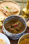 Indian foods of chapatti, korma and biryani nice — Stock Photo