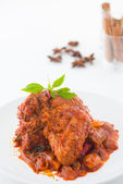 Curry rendang chicken, indian cuisine with traditional food item — Stock Photo