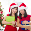Chinese girls during christmas celebration — Stock Photo