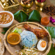 Stock Photo: Nasi Kerabu , traditional east coast blue rice, Famous in stat