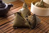 Chinese dumplings, zongzi usually taken during festival — Stock Photo
