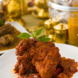 Curry chicken rendang cooked in indian style with spicy sauce an — Stock Photo #27241867