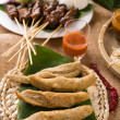 Keropok Lekor, is a Malaysian food that is a favourite snack esp — Stock Photo