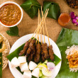Various malaysia food during hari raya ramadan festival — Stock Photo