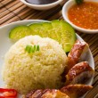 Singapore chicken rice , traditional singaporefood with items — Stock Photo #27442839