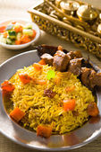 Arab food, ramadan foods in middle east usually served with tand — Stock Photo