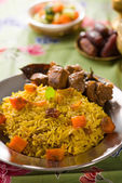 Arab rice, ramadan food in middle east usually served with tando — Stock Photo
