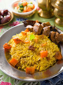 Arab rice, ramadan food in middle east usually served with tando — Zdjęcie stockowe