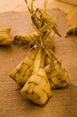 Ketupat: South East Asian rice cakes bundle, often prepared for — Stock Photo