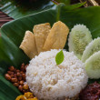 Stock Photo: Nasi lemak, traditional singapore food