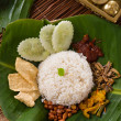 Nasi lemak, traditional singapore food — Stock Photo