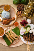 Various popular malaysia food for ramadan, hari raya aidilfitri — Stock Photo