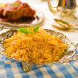 Stock Photo: Biryani chicken rice with traditional india food