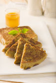 Popüler bir ortadoğu doldurulmuş ekmek mutabbaq veya murtabak olduğunu — Stok fotoğraf