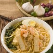 Prawn mee, prawn noodles. Famous Malaysian food spicy fresh cook — Stock Photo #28965795