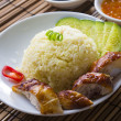 Singapore chicken rice , traditional singaporefood with items — Stock Photo #28965933