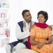 Stock Photo: Punjabi family mother and son with lifestyle setting