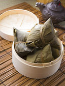 Bazhang chinese dumplings, zongzi usually taken during duanwu fe — Stock Photo