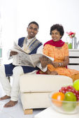 Punjabi family mother and son with lifestyle setting — Stock Photo