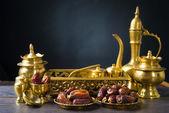 Ramadan food also known as kurma , Palm dates — Stock Photo