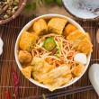 Hot and spicy Singapore Curry Noodle — Stock Photo