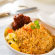 biryani chicken rice cooked in arab style tajine with traditiona — Stock Photo #29540819