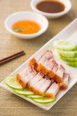 Shao rou, chinese roast pork close up shot — Stock Photo
