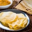 Papad or pappadam , indian traditional food — Foto de Stock