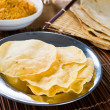 Papad or pappadam , indian traditional food — Foto Stock