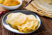 Papad or pappadam , indian traditional food — Stock Photo