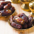 Date palm ramadan food also known as kurma. Consumed before fast — Stock Photo