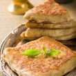 Arab bread with stuffed meat — Stockfoto