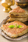 Arab bread with stuffed meat — Stock Photo