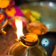 Diwali lamp with indifestival setup — Stock Photo #32368951