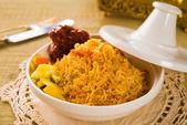 Arab rice in a tajine — Stock Photo