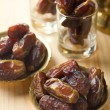 Red dates or kurma, traditional food in middle east — Stock Photo